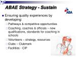 abae strategy sustain