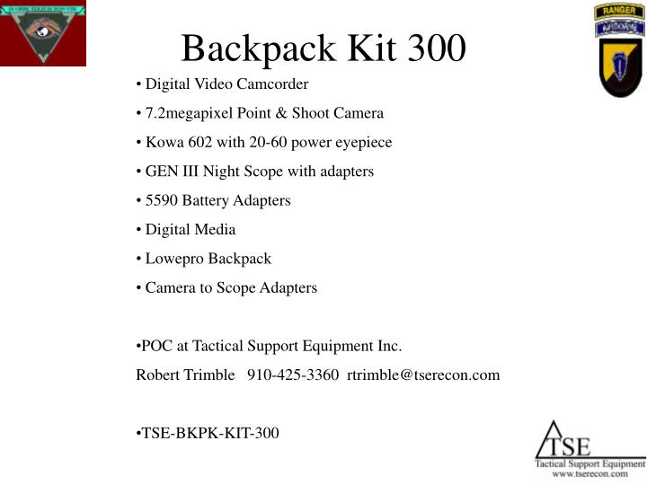 Backpack Kit 300