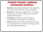 prinsip prinsip lembaga keuangan syariah