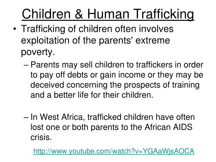 Children & Human Trafficking
