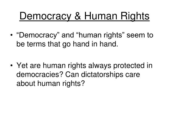 Democracy & Human Rights