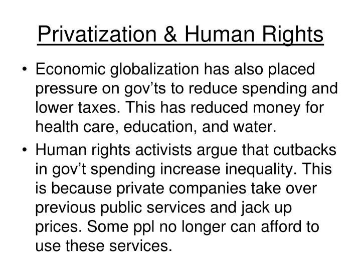 Privatization & Human Rights