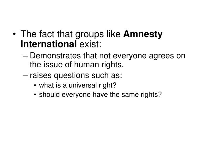 The fact that groups like