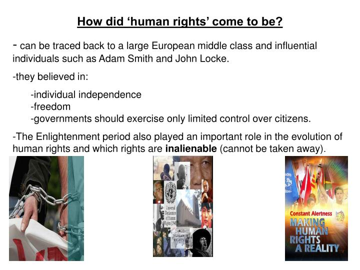 How did 'human rights' come to be?