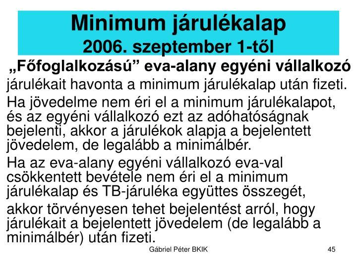 Minimum járulékalap