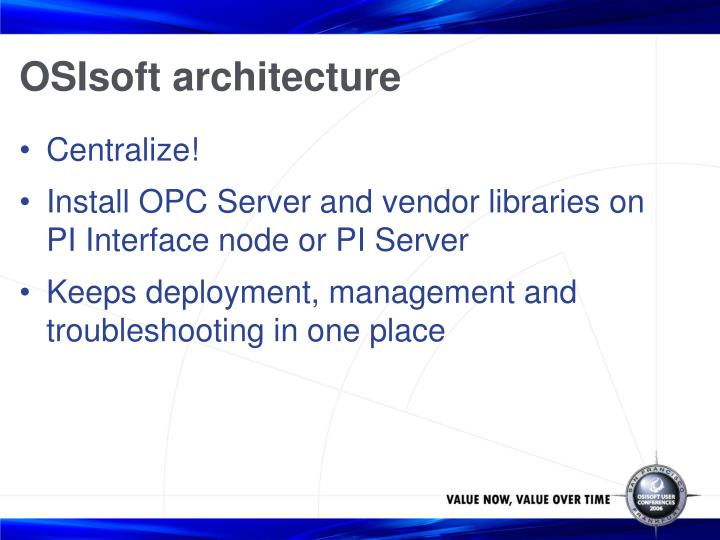 OSIsoft architecture