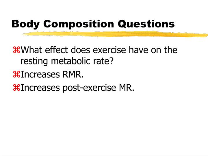 Body composition questions2