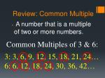 review common multiple