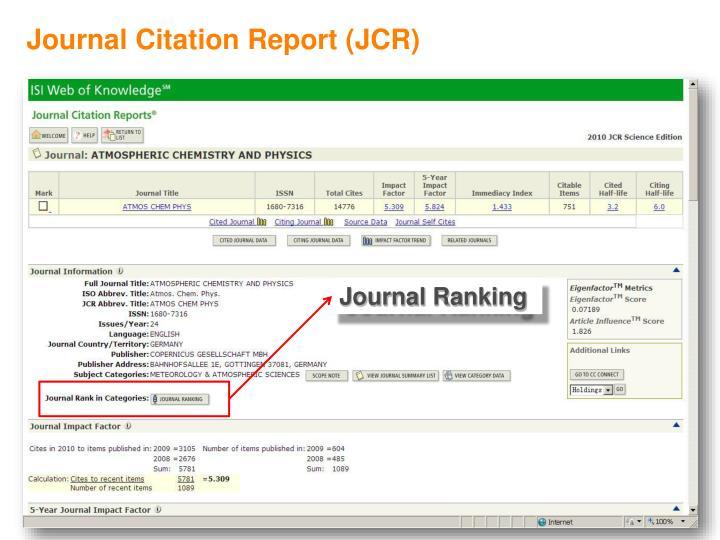 Journal Citation Report (JCR)