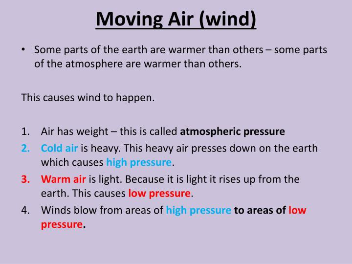 Moving Air (wind)