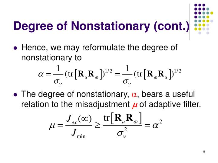 Degree of Nonstationary (cont.)