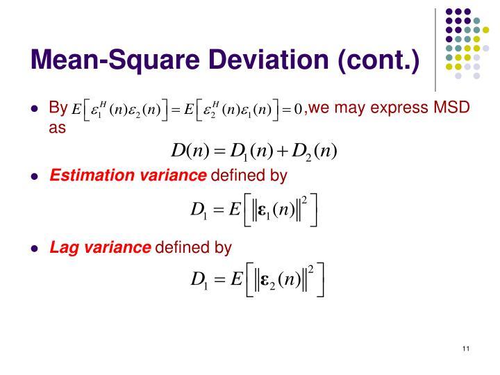 Mean-Square Deviation (cont.)