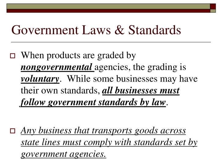 Government Laws & Standards