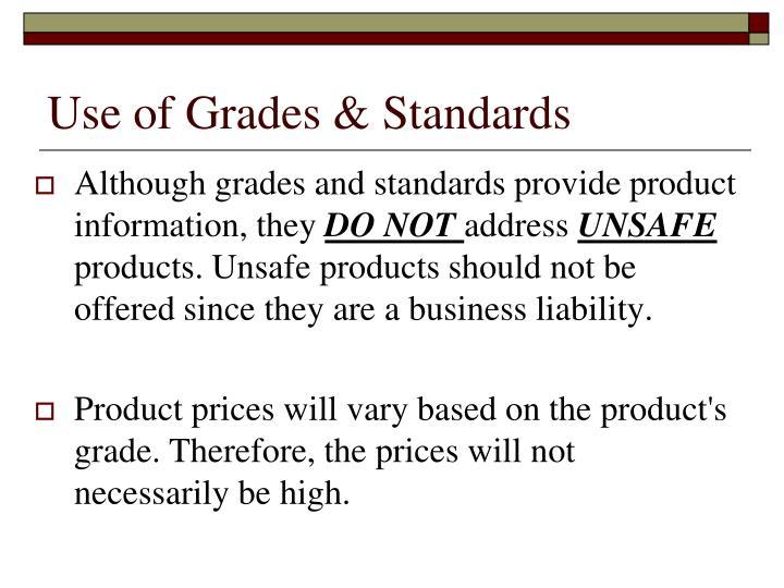 Use of grades standards1