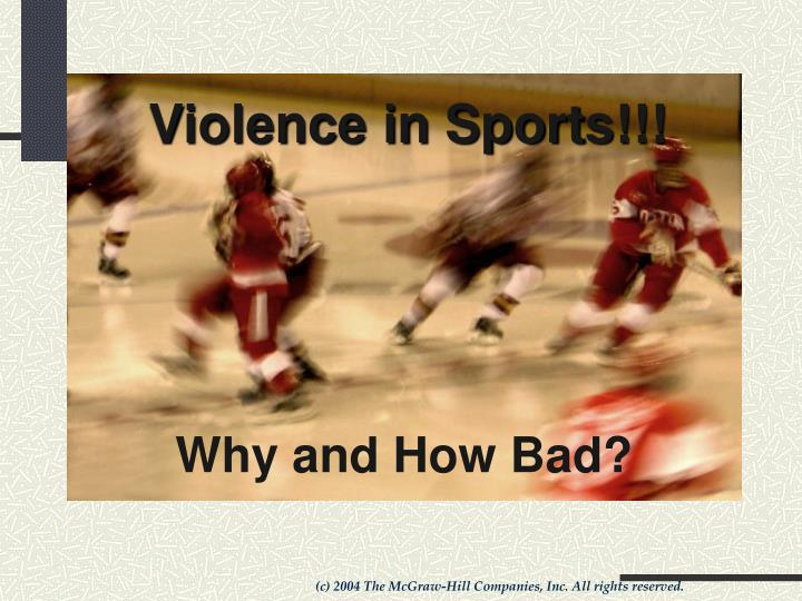 essay on violent sports should not be banned