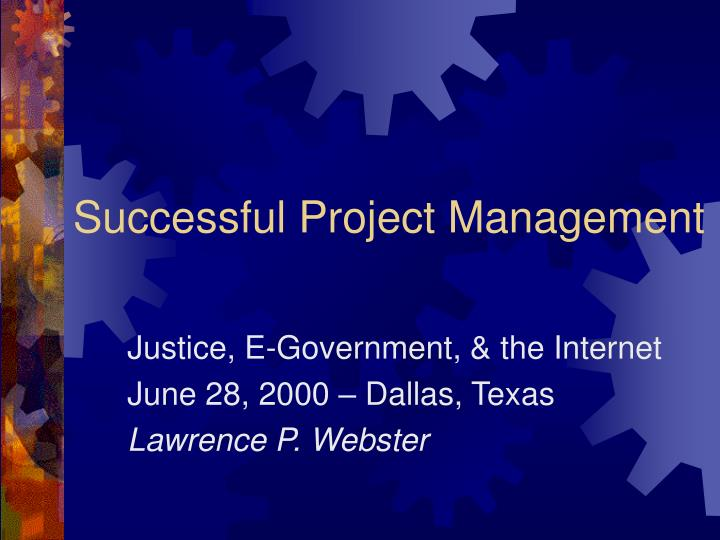 successful project management n.