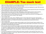 example too much text