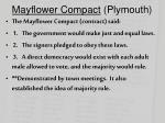 mayflower compact plymouth