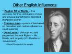 other english influences