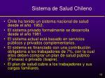 sistema de salud chileno