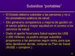 subsidios portables