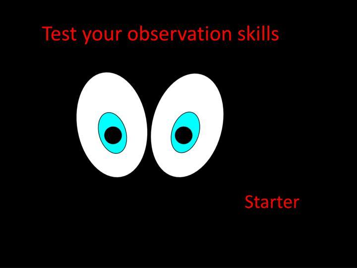 Test your observation skills