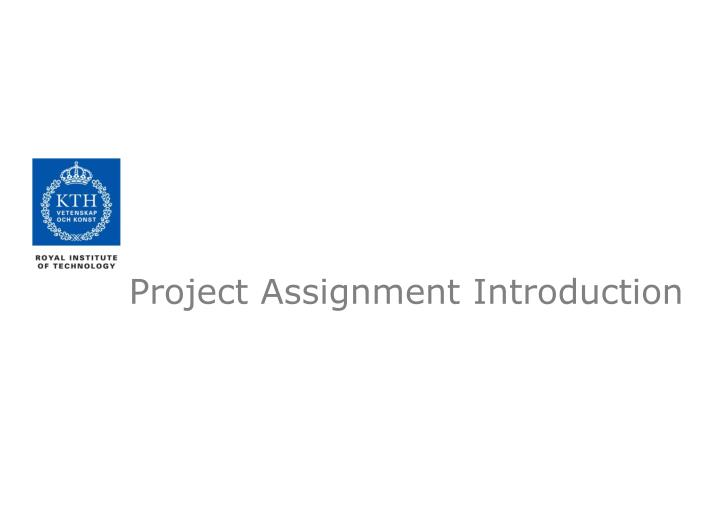 project assignment introduction n.