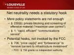 net neutrality needs a statutory hook