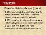 potential statutory hooks cont d