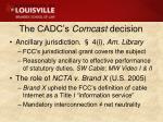 the cadc s comcast decision