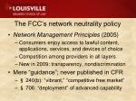 the fcc s network neutrality policy