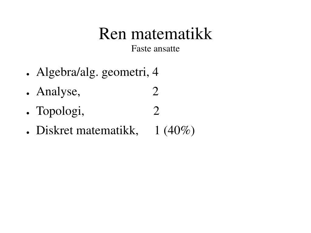 diskret matematikk