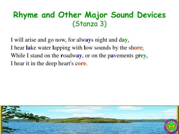 Rhyme and Other Major Sound Devices