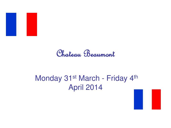 chateau beaumont n.