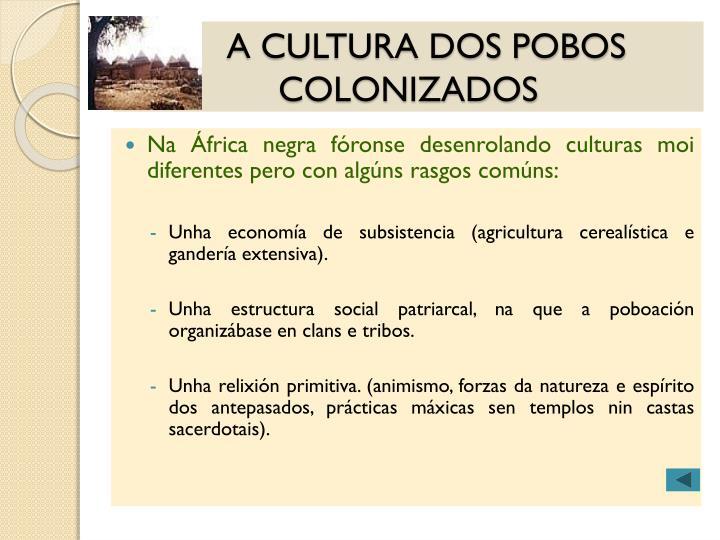 A CULTURA DOS POBOS COLONIZADOS