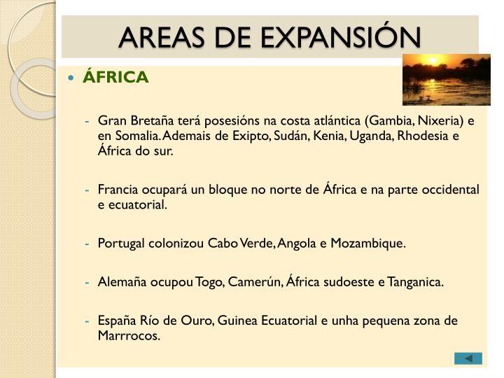 AREAS DE EXPANSIÓN