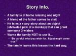 story info
