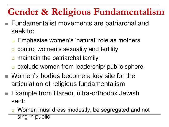 Religious Fundamentalism Examples PPT - Gender, Oriental...