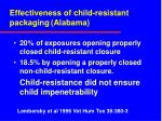 effectiveness of child resistant packaging alabama