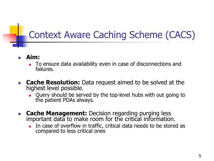 Context Aware Caching Scheme (CACS)