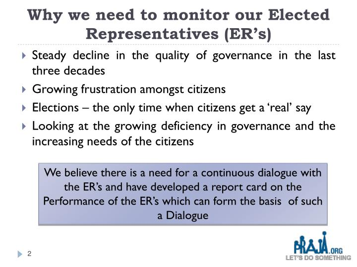 Why we need to monitor our elected representatives er s
