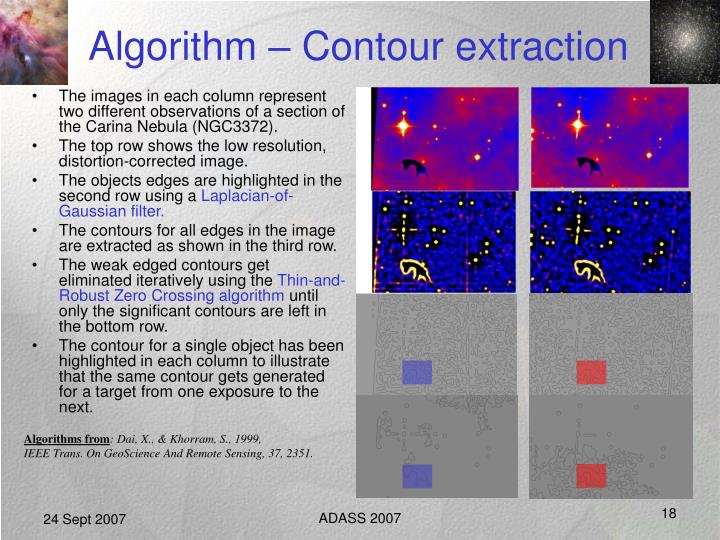 Algorithm – Contour extraction
