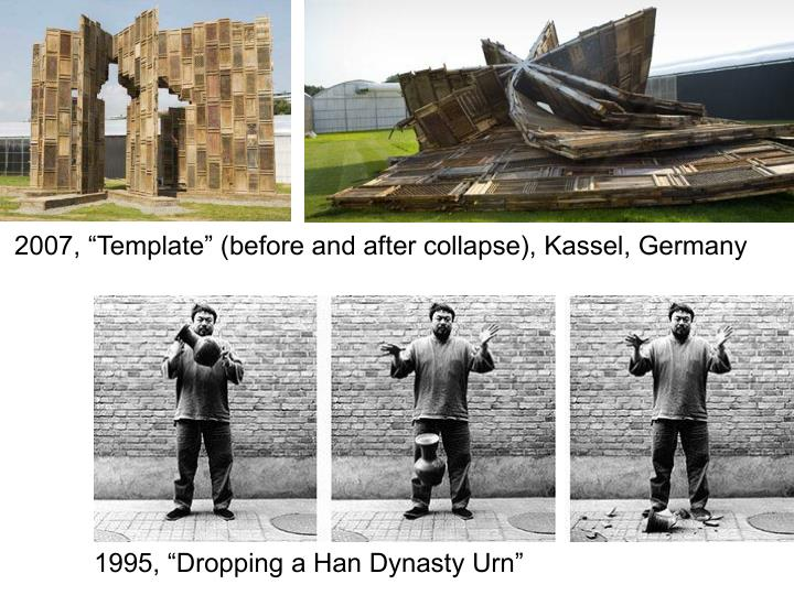 "2007, ""Template"" (before and after collapse), Kassel, Germany"