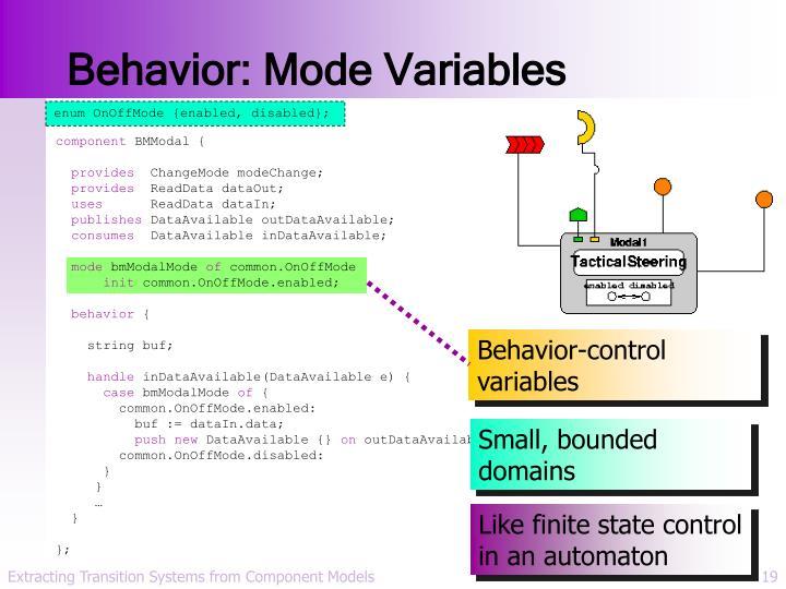 Behavior: Mode Variables