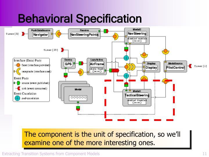 Behavioral Specification