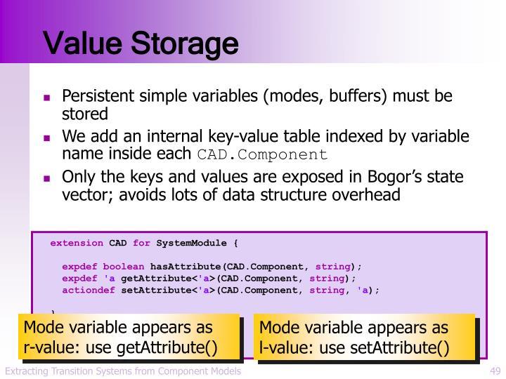 Value Storage