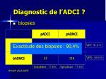 diagnostic de l adci
