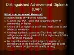 distinguished achievement diploma dap