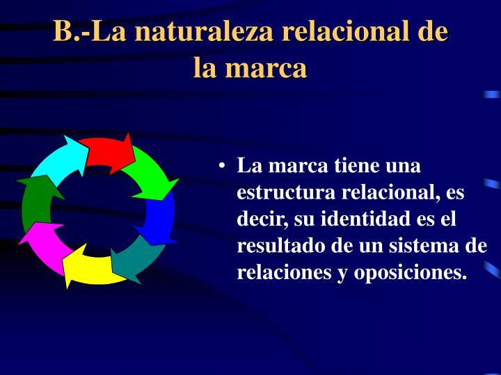 B.-La naturaleza relacional de la marca