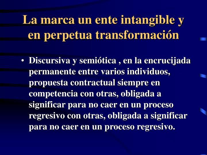 La marca un ente intangible y en perpetua transformación